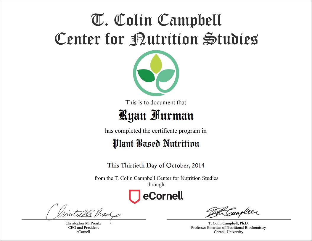 Credentials mainly plants plant based nutritionist certification personal training certification cpraedfirst aid certification xflitez Images